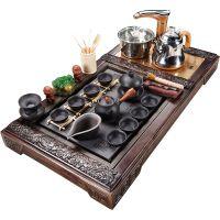 静渔全自动紫砂茶具套装家用茶盘四合一功夫茶壶茶杯茶道实木茶台