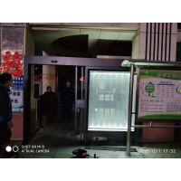 郑州小区广告灯箱电动平移门