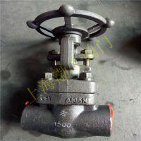 J61H 焊接截止阀 J61H-40C 承擦焊钢截止阀 A105锻钢截止阀 DN25