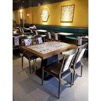 深圳厂家定做创意新款/实木餐桌 内坎实木花纹餐桌 主题式餐桌餐椅