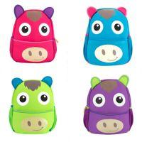 直销双肩书包 幼儿园儿童潜水料书包 可爱卡通书包 动物形背包