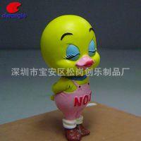 创意树脂鸭子趣味儿童玩具学生生日礼物动物小摆件可爱小黄鸭