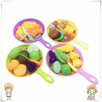 韩版创意水果蔬菜切切看儿童仿真过家家厨房玩具海鲜魔术贴切切乐