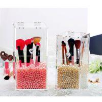 亚克力化妆刷展示架 透明化妆品收纳盒 有机玻璃化妆桶
