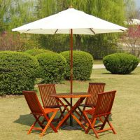 成都户外中柱伞 实木遮阳伞 庭院户外伞 全实木骨架 2.7米直径 加厚涤纶布