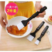 厨房烘焙工具烧烤刷油刷 长柄优质塑料耐高温料理刷子易清洗2只装