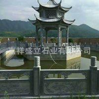 批发景区石栏杆凉亭子 水塘河边两侧护栏 青石雕刻
