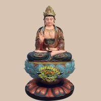 寺庙佛像定制厂家 优质树脂观世音菩萨 彩绘玻璃钢佛像批发电话 河北宗教供奉塑像厂