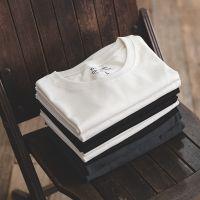 马登工装 黑白两件套220g纯棉短袖t恤夏季纯色圆领T盒装打底衫男