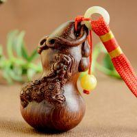 礼品挂饰 红木酸枝木手把件雕刻 貔貅葫芦把玩件送领导老人礼物