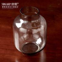 欧式透明玻璃花瓶 现代简约时尚插花花器餐桌家居装饰品摆件