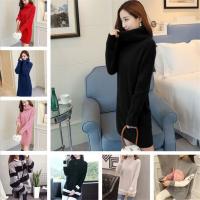 2018秋冬女装毛衣 韩版大码中长款长袖毛衣女 外贸尾货打底针织衫