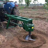 水泥柱子打洞机 牵引式植树挖坑机 大型拖拉机挖坑机直销