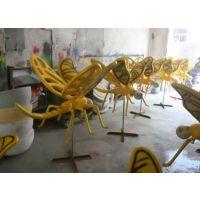 佛山玻璃钢造型定做广场、公园玻璃钢青蜻蜓雕塑厂家