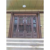 西安玻璃铜门批发市场 西安铜地弹门安装 西安店面仿真铜门加工