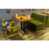 西安厂家直销现代简约板式餐厅餐饮卡座沙发餐桌椅组合 600*1200
