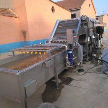 喷淋清洗机 高压水流洗姜机 清洗流水线