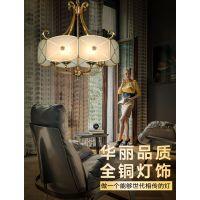 欧式吊灯全铜餐厅吊灯客厅卧室灯现代简约饭厅灯创意大气个性灯具