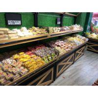 生鲜水果店货架蔬菜架子超市单面双面货架粮食零食架