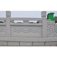 嘉祥神画石雕厂家直销天青石石雕栏杆 建筑石雕护栏 梅花石雕栏杆