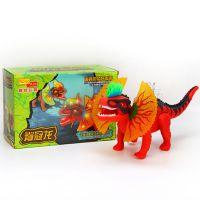 6668电动脊冠龙灯光仿真叫声走路恐龙侏罗纪公园儿童节玩具批发