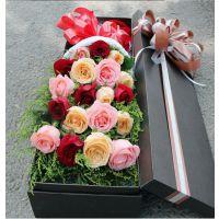 东莞鲜花同城红玫瑰配送七夕情人节速递礼盒厚街虎门长安花店送花