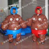 体育运动摔跤比赛 充气相扑服竞技充气服装 肌肉外观充气相扑服装