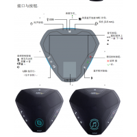 凯富通Ego 精美设计功能强大的会议电话 模拟电话机全向麦克风