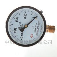 杭州富阳压力表 真空压力表 真空专用表 -0.1MPA表 负压表