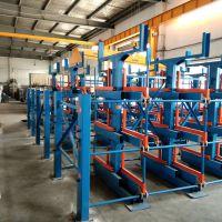 南昌管材货架价格 伸缩悬臂货架结构 存取方便安全 超长管材适用