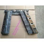 烧结厂环冷机轴端密封钢刷 活动轮钢刷式密封