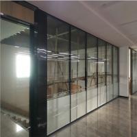 江西九江写字楼室内玻璃隔墙 简洁办公隔墙 固定隔断单侧玻璃成品隔断