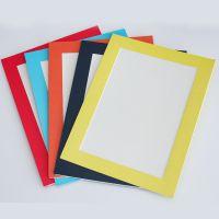 厂家直销简易画框卡纸裱A4儿童画卡纸相框 纸质画框定制批发
