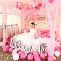 JSH卧室婚房布置拉花新房婚庆婚礼新婚浪漫韩式装饰房间结婚用品