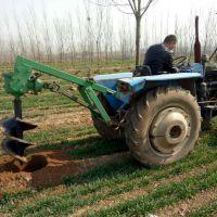 启航建筑立杆打穴机 植树造林挖坑机 操作简单四轮打眼机价格