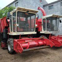 自走式玉米秸秆粉碎收获机 多功能青储揉丝铡草机 皇竹草收割机
