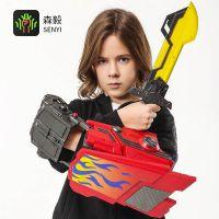 【包邮】擎天柱大黄蜂机械手臂水弹枪电动连发水弹玩具枪有AR版本