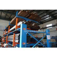 安徽重型钢材存储方法 正耀伸缩式管材货架报价 存取利用行车