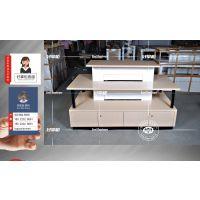 联通木纹多层展销台,联通系列展示柜台全套供应商