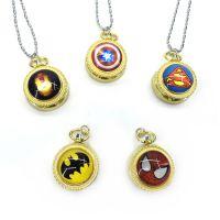 超级英雄系列美国队长时间手表蜘蛛侠怀表陀表挂表翻盖学生礼物