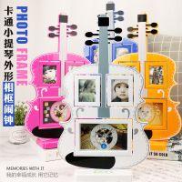 儿童塑料相框钟 组合欧式影楼塑料创意框照片像框钟  批发