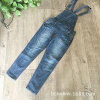 经典基本款牛仔背带裤 柔软薄料 微弹力 收身款