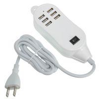 6口USB  HUB集线器 多USB分线器 6USB充电器 带开关+指示灯