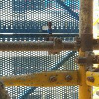 三亚建筑施工安全防护网 新型全钢圆孔爬架网 提升架防护金属网