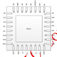 集成输入快充协议IP2315,单节锂电池同步开关降压