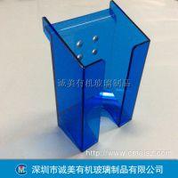 蓝色有机玻璃防护罩 亚克力设备外壳 深圳沙井压克力折弯机盖