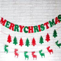 厂家供应 毛毡挂件圣诞树装饰挂件圣诞树挂件圣诞礼品圣诞小彩旗