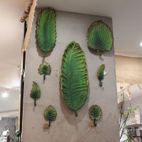 厂家批发复古金属植物壁挂创意北欧铸铁挂钩叶子工艺品艺术挂件