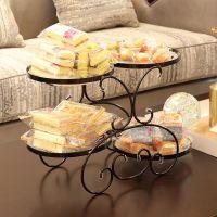 美式复古创意多层果盘客厅水果盘架子糖果盘家用拼盘欧式收纳饰品