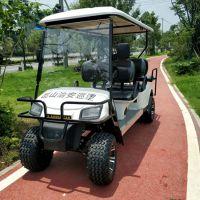 厂家直销6座四轮电动景区旅游观光车公园巡逻车加防撞栏